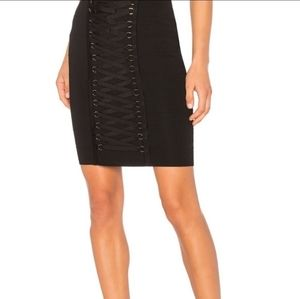 Endless rose pencil skirt with ribbon details